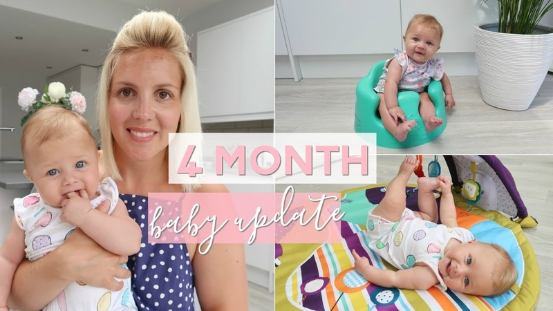 4 Month Baby Update | Rolling Over, Sitting Up, Touching Toes and Really Lauging