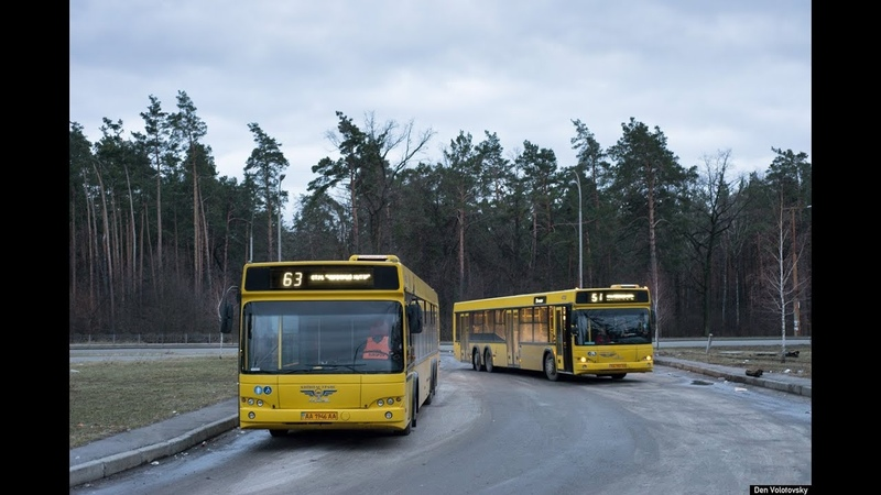 Автобус №63|Bus №63 Масив Лісовий - Ст.м. Червоний хутір