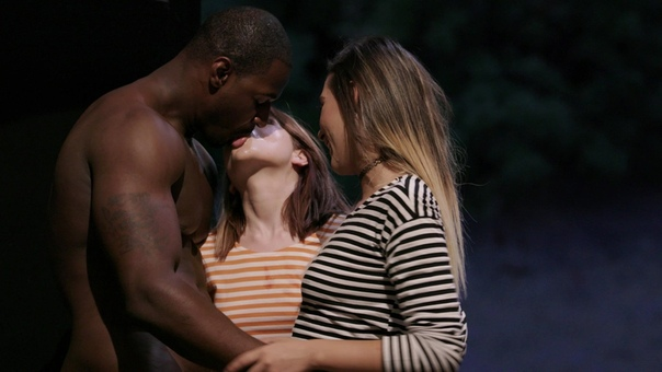 Romantic black man presenting his girlfriend beautiful ring stock photo