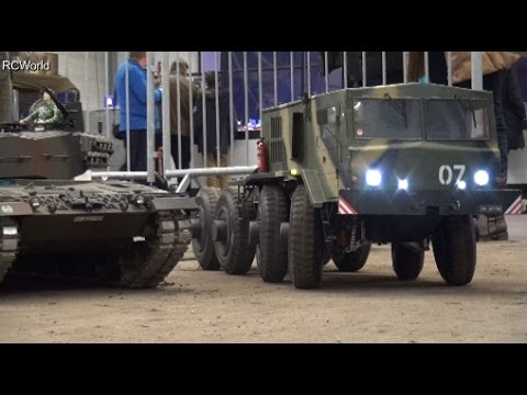 Big RC MAZ 537 Soviet Tank Transporter МАЗ-537 ♦ Erlebniswelt Modellbau Erfurt 2016