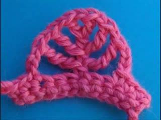 Вязание крючком -  Сложный столбик лист
