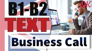 A business call - Деловой звонок (dialogue)  | Английский среднего уровня INTERMEDIATE