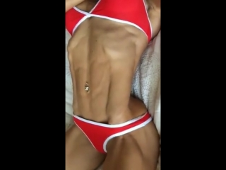 Fit girl abs flex