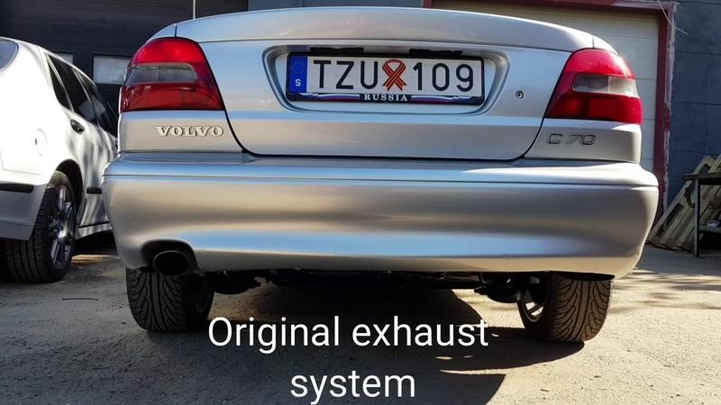 Volvo c70 2.5t Exhaust system Original, Sport, Straight pipe