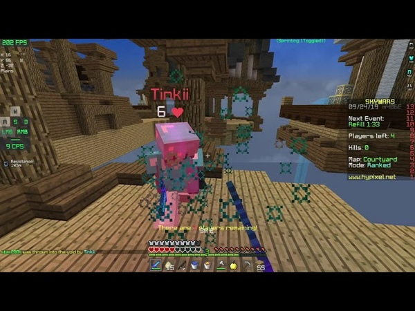 1.800 rating ranked skywars game. (unedited)