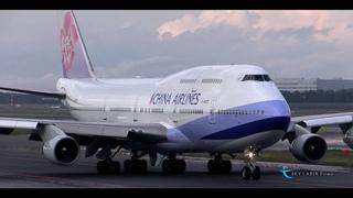 """""""なかなか見れない光景!! 積乱雲を避けてレフトターン!!"""" China Airlines(CAL) Boeing747-400 B-1"""