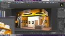 Tutorial on Modeling texturing and lighting a 3d stall in 3ds max using Vray Part 6