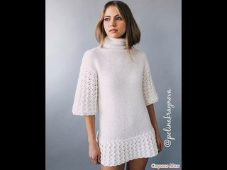 Удлиненный Свитер Спицами - 2019 / Long Knitting Sweater / Langer Strickpullover