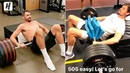 Kevin Love Moving 500 Pounds for 10 Reps! Hezonja Challenged Him!