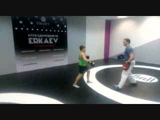 Отработка ударной техники.