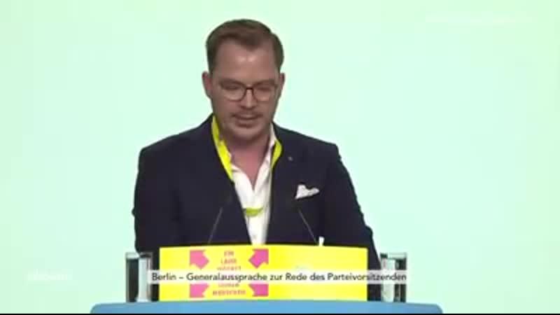 2019-04-26 FDP Bundesparteitag: Scharfe Kritik von Tobias Huch an Aiman Mazyek