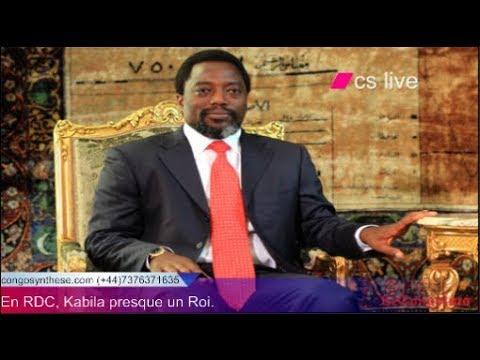 RDC Kabila presqu'un roi LE ROI EST MORT VIVE LE ROI