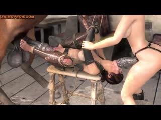 Breaking the Quiet с русским переводом от  (3D Porn, mult, с сюжетом, часть 1, 2, 3, part Lara croft horse)
