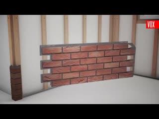Монтаж фасадных панелей VOX