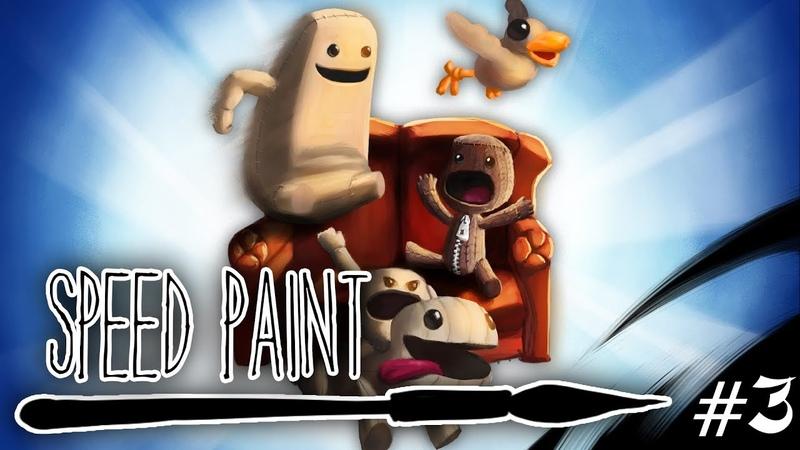 LBP3 Speed painting LittleBigPlanet 3 Family Fanart