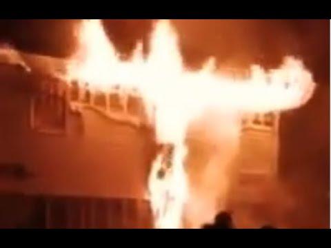 Здание судебных приставов сгорело в Красноярске