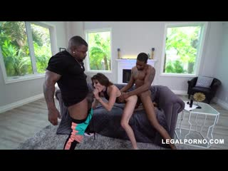 Adria Rae [Legalporno - American Anal] Anal, Blowjob, DP, Gaping, Threesome
