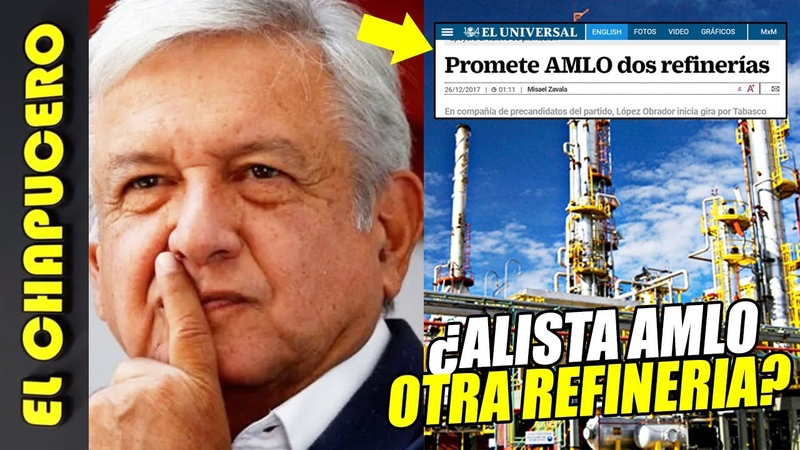 AMLO aprovecharía colapso petrolero para impulsar 2da refinería