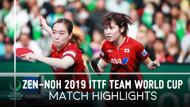 Miu Hirano Kasumi I vs Elizabeta S Daniela M D ZEN NOH 2019 Team World Cup Highlights 1 4