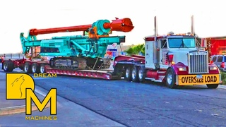 OVERSIZE LOAD NONSTOP! TRUCKS LEAVING CONEXPO LAS VEGAS / BIG CLEANOUT AT CONVENTION CENTER #9