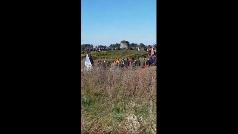 Commeration march at Culloden for the 273rd anniversary of the battle