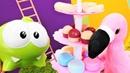 Om Nom oyuncak flamingo'dan yardım istiyor Bebek videosu