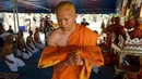 Plastic waste used to make monk's robes in Thailand