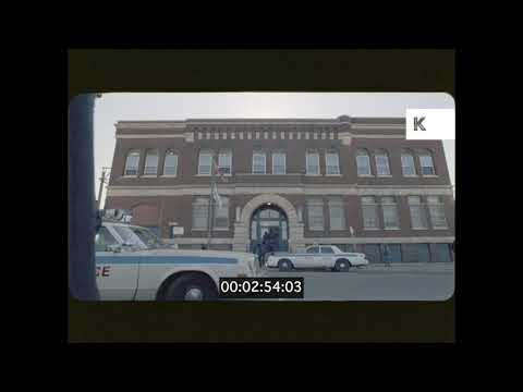 1980s 1990s Chicago Police Station Exterior 35mm