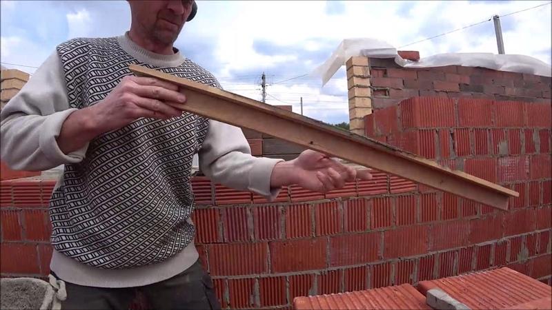кладка облицовочного кирпича в пустошовку от нивка для мастеров кладок