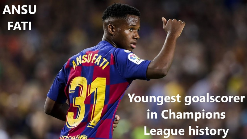 Ansu Fati. Football player of Barcelona. The youngest scorer in the history of the Champions League.