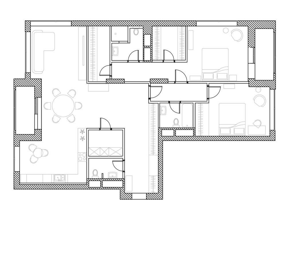 Квартира подсдачу вМоскве, 140м²