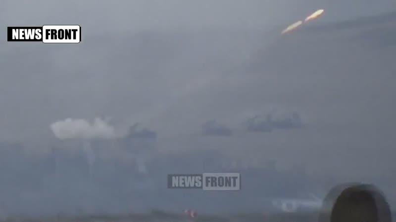 Работа Градов и САУ по подавлению точек огневой активности ВСУ в Дебальцевском котле 1