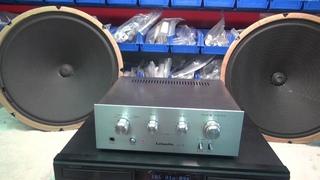 """Vintage Jensen 15"""" paper cone speakers Lafayette amp Denon CD Demo"""
