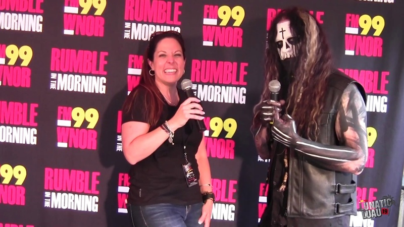 Randy Weitzel from In This Moment interview at FM99's Lunatic Luau