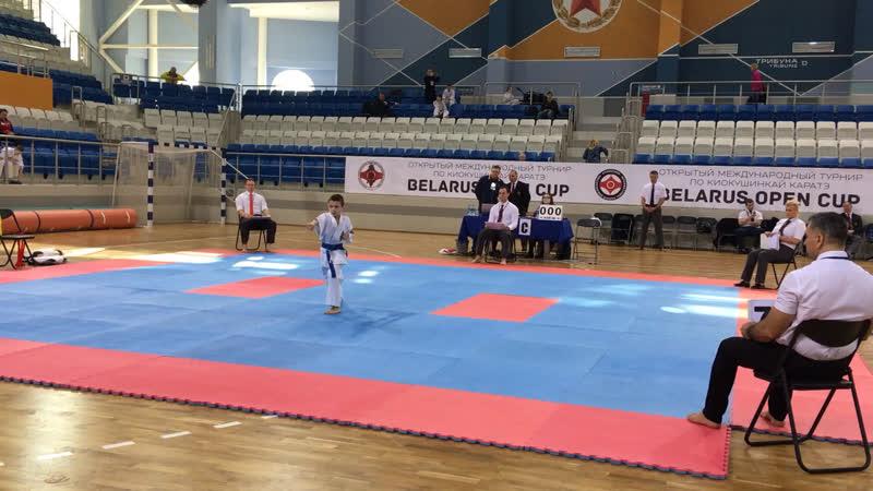 Belarus Open Cup 2019. Гумин Никита 2 круг ката