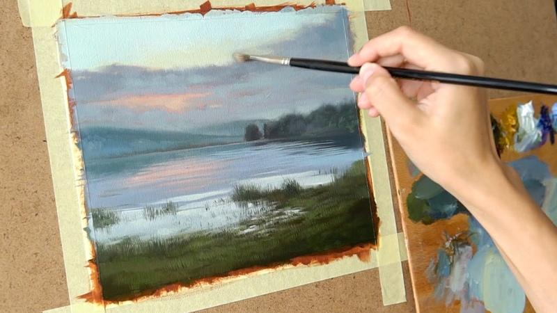 Масляная живопись для начинающих. Рисуем пейзаж 3 Art tutorial . Oil painting