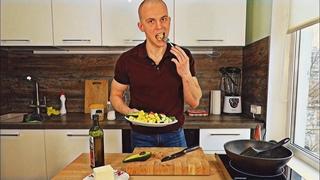 Тофу со свежими овощами за 5 минут. Сытный обед вегана. Простой рецепт