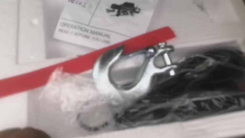 Сегодня отправили лебедку 12000lbs трос сталь нашему клиенту в г.Вологда (Тотьма)