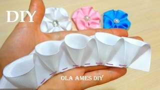 Amazing Kanzashi Flower| Цветы из лент Канзаши| Hand Embroidery Flowers|Easy Flower Making2 Ola ameS