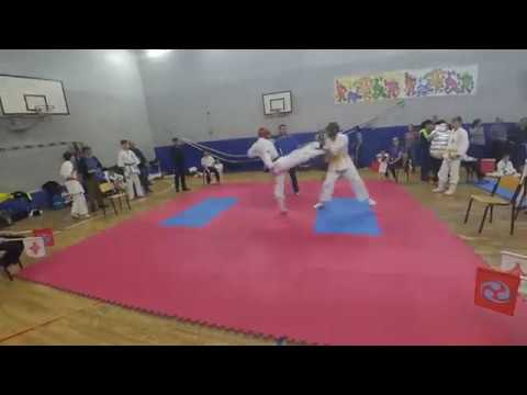 Нокдаун киокушинкай карате. (Маваши гери)