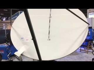 Система вибрации, защищающая антенну-тарелку ото льда и снега