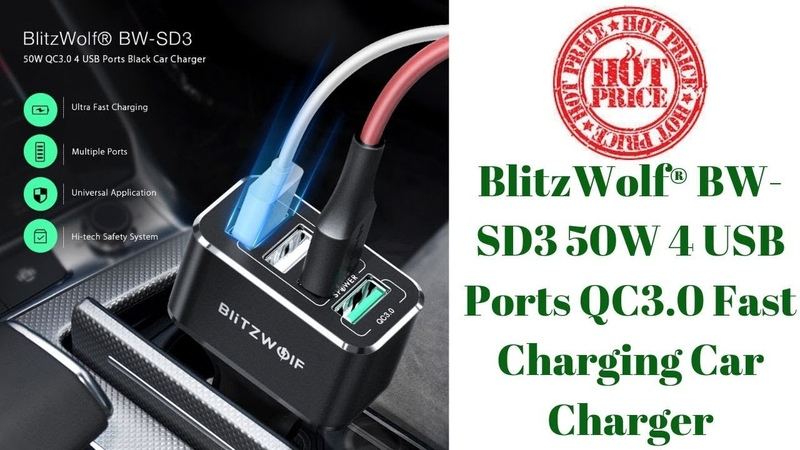 4 USB Ports QC3.0 Fast Charging Car Charger For iPhone X XR Xs Xiaomi Mi8 Pocophone