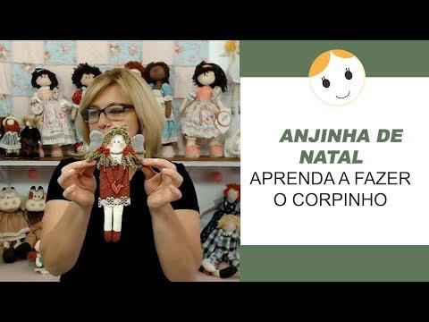 ANJINHA DE NATAL - APRENDA A FAZER O CORPINHO | DRICA BONECAS DE PANO
