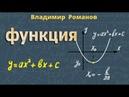КВАДРАТИЧНАЯ ФУНКЦИЯ y ax2 bx c свойства и график квадратичной функции
