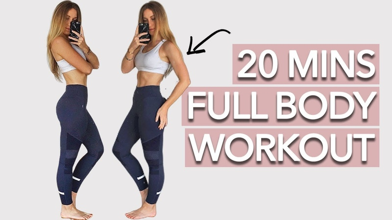 Holly Dolke - 20 Min Full Body Workout | Интервальная кардио-тренировка для похудения (средний уровень)