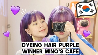 Dyeing Hair Purple, Visit to Mino's Cafe, Bullet Journal & Movie Night | Q2HAN