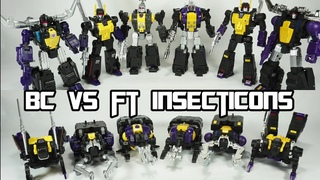 Badcube Claymore, Hypno & Kickbutt VS Fans Toys Mercenary, Grenadier & Forager AKA Insecticons