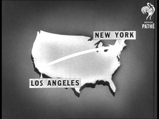 Jets Set Triple Record On East West American Route (1957)