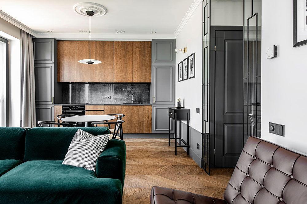 Cтильная квартира в современной классике в Вильнюсе