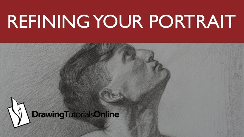 Refine Your Portrait Drawing By Softening Edges Modeling Form.